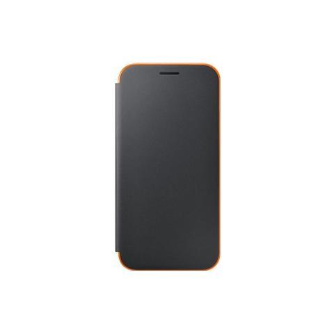 SAMSUNG Neon Flip Cover Custodia per Galaxy A5 2017 - Nero
