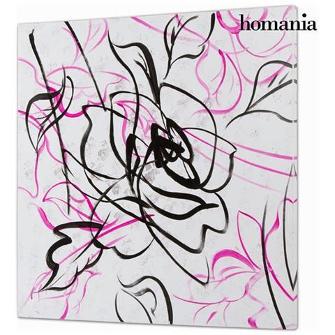 Homania Dipinto Olio Rosa By