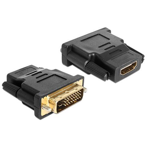 DeLOCK 65466 DVI 24+1 HDMI Nero cavo di interfaccia e adattatore