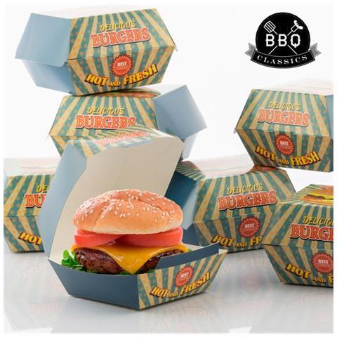 Set Di Scatole Per Hamburger Bbq Classics (pacco Da 8) V0201252