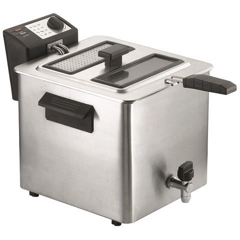 Fry Tyoe 8 Friggitrice Potenza 3000 Watt Capacità 8 Litri Colore Silver