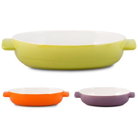 HOME Pirofila Ceramica Ovale Assortiti 28x21 Strumenti Da Cucina