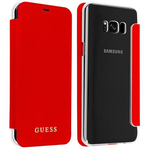 Custodia Guess Iridescent Con Cover Crystal Per Samsung Galaxy S8 Plus - Rossa