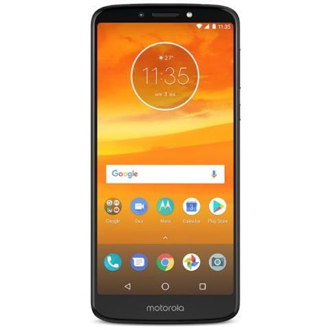 """MOTOROLA Moto E5 Plus Grigio 16 GB 4G / LTE Display 6"""" HD+ Slot Micro SD Fotocamera 12 Mpx Android Italia"""