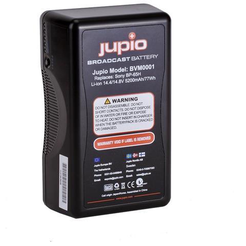 Jupio BVM0001, Ioni di litio, Videocamera, Nero, Sony BP-65H