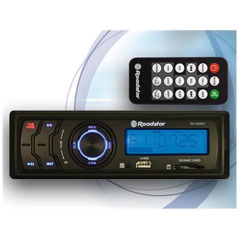 ROADSTAR RU-265RC, FM, Blue, LCD, Nero, MMC, SD, 4 x 7.5W