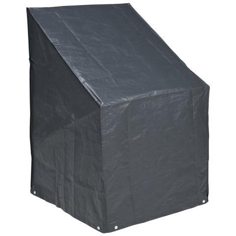 Telo copertura in polietilene per sedie impilabili 110 x 68 x 68 cm colore grigio scuro