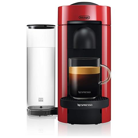 Macchina da Caffè Nespresso VertuoPlus Serbatoio 1.1 Litri Potenza 1260 Watt Colore Rosso