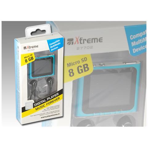 XTREME 27702, MP4, Blu, Digitale, Flash-media, 8 GB, MicroSD (TransFlash)