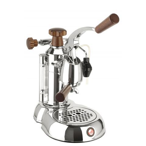STH Stradivari Lusso Macchina da Caffè Espresso Manuale Manici in legno Serbatoio 0.8 Litri Potenza 1000 Watt