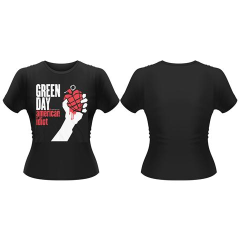 PHM Green Day - American Idiot T-Shirt, Girlie Womens: 14