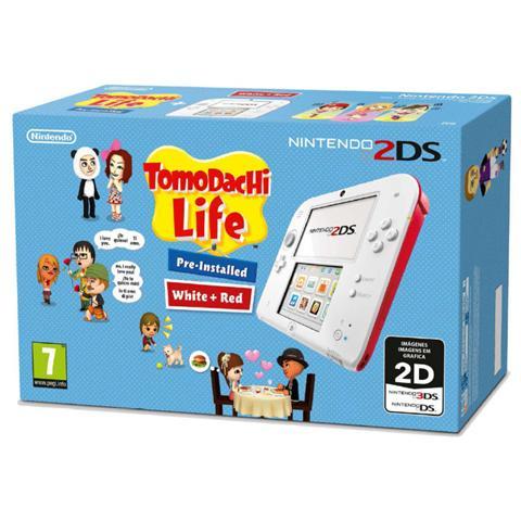 Image of Console 2DS Bianco / Rosso + Gioco Tomodachi Life