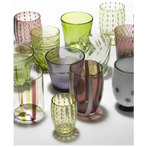 Set 6 Bicchieri Melting Pot Tumbler Assortiti Verde / ametista