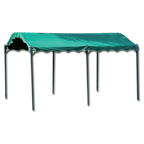 Gazebo in Metallo 3 x 4 metri Colore Verde