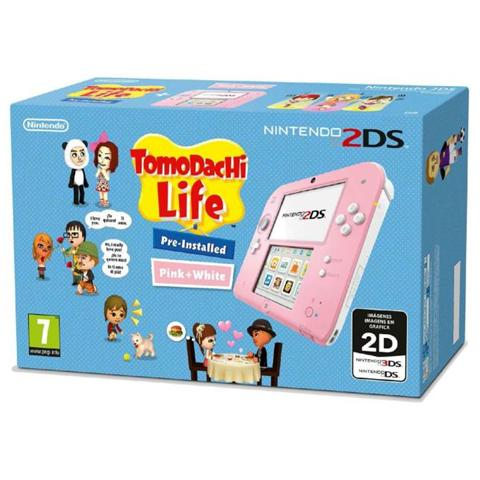 Image of Console 2DS Rosa / Bianco + Gioco Tomodachi Life
