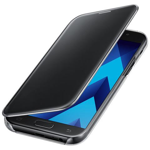 SAMSUNG Clear View Cover nero per Galaxy A5 2017