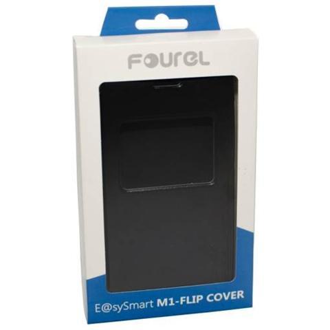 FOUREL Flip Cover Custodia in Pelle per Smart M1 Colore Nero