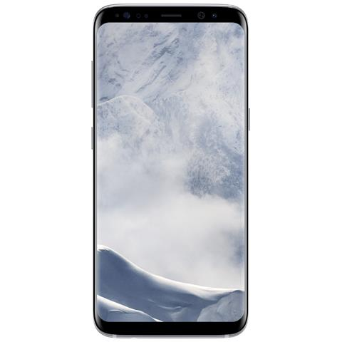 "SAMSUNG Galaxy S8 Argento 64 GB 4G / LTE Impermeabile Display 5.8"" Quad HD Slot Micro SD Fotocamera 12 Mpx Android Italia"