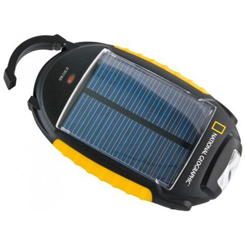Bresser Caricatore Solare 4 in 1 Charger con Adattatori di tutti i tipi Funzioni Lampada SOS e Luce
