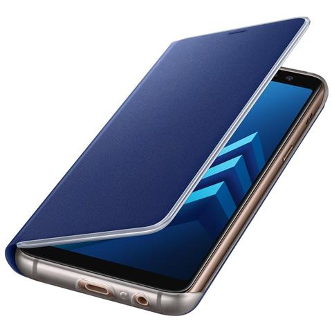 SAMSUNG Neon Flip Cover Custodia per Galaxy A8 (2018) colore Blu
