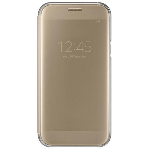 SAMSUNG Clear View Cover oro per Galaxy A5 2017