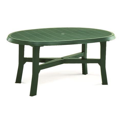 Tavolo Ovale Verde - Modello Danubio