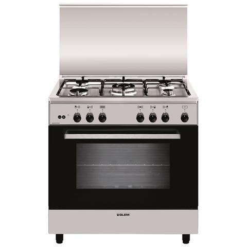Glem gas cucina a gas a855gi 5 fuochi gas forno gas classe a dimensioni 80x50 colore inox - Eprice cucine a gas ...