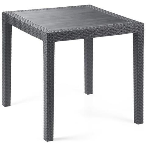 Tavolo quadrato in Polipropilene Antracite - Modello King