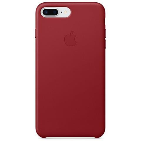 APPLE Cover in Pelle per iPhone 8 Plus / 7 Plus Colore Rosso