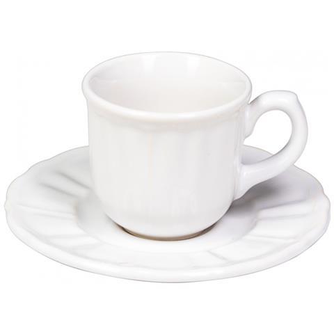 Casa Collection - Set 6 Tazzine Da Caffe' Serie Avignone Bianco