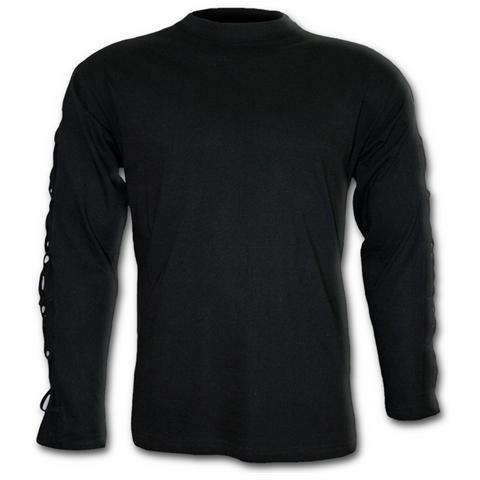 Spiral Direct Spiral - Gothic Rock - Cross Strap Longsleeve T-shirt Black (T-Shirt Manica Lunga Unisex Tg. M)