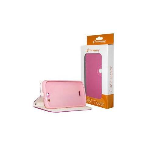 Techmade Flip Cover Custodia per Fourel Easy Smart F2 / C451 colore Rosa