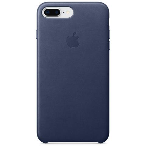 APPLE Cover in Pelle per iPhone 8 Plus / 7 Plus Colore Blu Notte