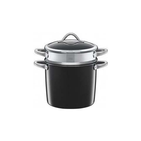 Spaghettiera c / coperchio vitaliano 24cm 8,5lt. nero silargan