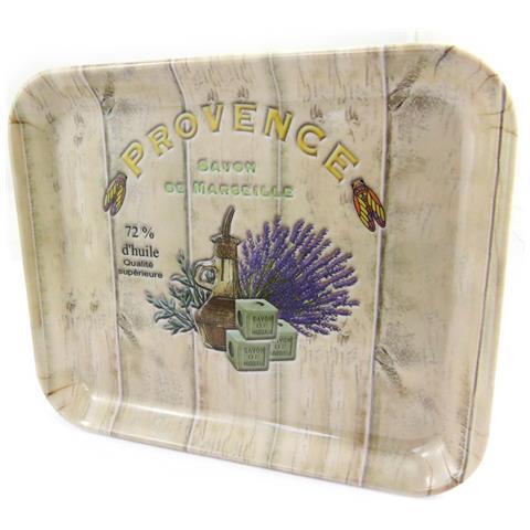 Les Trésors De Lily piccolo vassoio 'provence - savon de marseille' taupe beige (15x20 cm) - [ m1355]