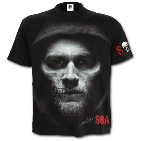 SPIRAL Jax Skull - Sons Of Anarchy Black (T-Shirt Unisex Tg. S)
