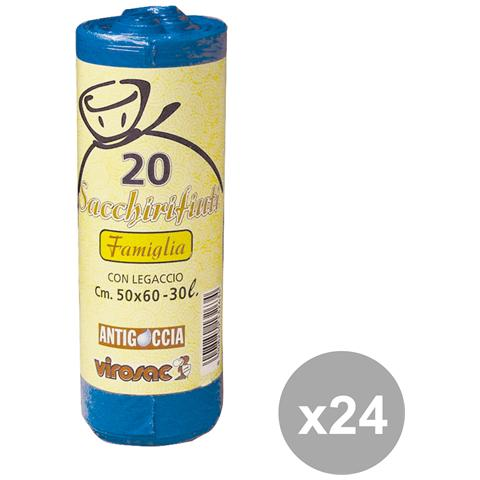 Virosac Set 24 50x60 Blu X 20 Pezzi Virosac Riordino