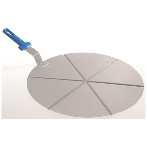 Vassoio Per Pizza Di Gimetal Alluminio 6 Spicchi Con Manico Non Ricambiabile Diam. 45 Cm