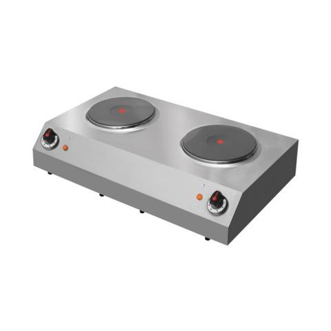 Cucina Piano Cottura Elettrico 2 Piastre Cm 77x44x18 Rs0709