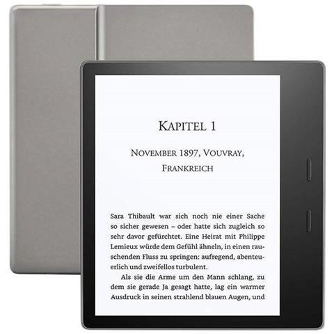 Lettore E-Reader 7'' Kindle Oasis Touch Screen 8 GB Wi-Fi Colore Grafite