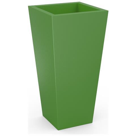Fioriera Design Quadra In Resina Verde