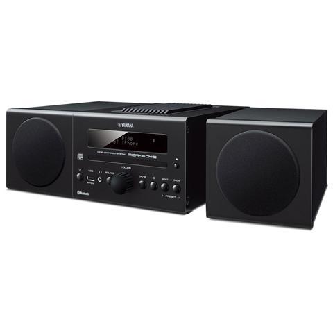YAMAHA SIstema Micro Hi-Fi MCR-B043 Lettore CD Supporto MP3 / WMA Potenza Totale 30Watt Bluetooth USB colore Nero