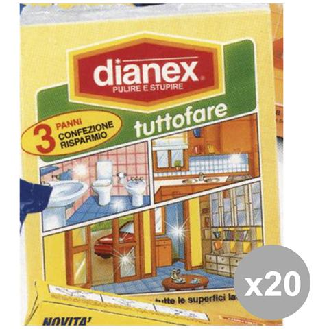 Dianex Set 20 3 Panni Tuttofare Attrezzi Pulizie