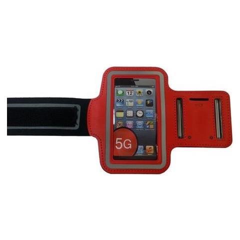 NetworkShop Custodia Fascia Da Braccio Sport Armband Rosso Per Iphone 5