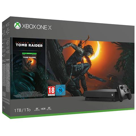 Image of Console Xbox One X 1 TB+ Shadow of Tomb Raider + 14gg Xbox Live Gold + 1 Mese Gamepass