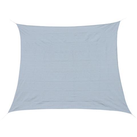 Tenda A Vela Parasole Rettangolare Per Terrazzo Giardino, Grigio, 400x610cm