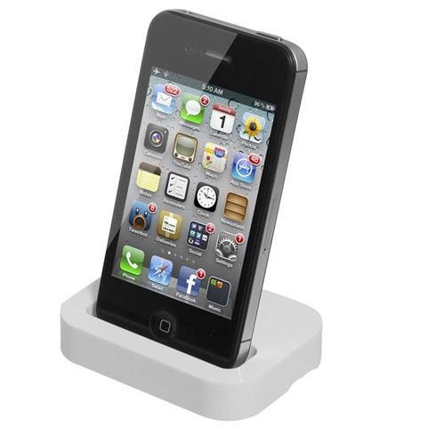 TAKESTOP Base Di Ricarica Compatibile Con Iphone 4 4S Docking Station Caricabatteria E Supporto