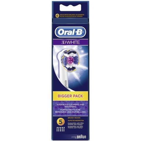 BRAUN marrone Oral-B spazz. di ricambio 3D bianco 5pz