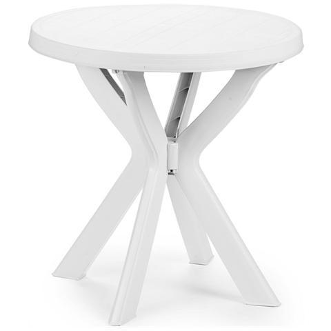 Tavolo da Giardino Tondo Bianco - Modello Don