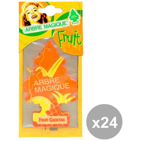 Arbre Magique Set 24 Deodorante Fruit Cocktail Accessori Auto